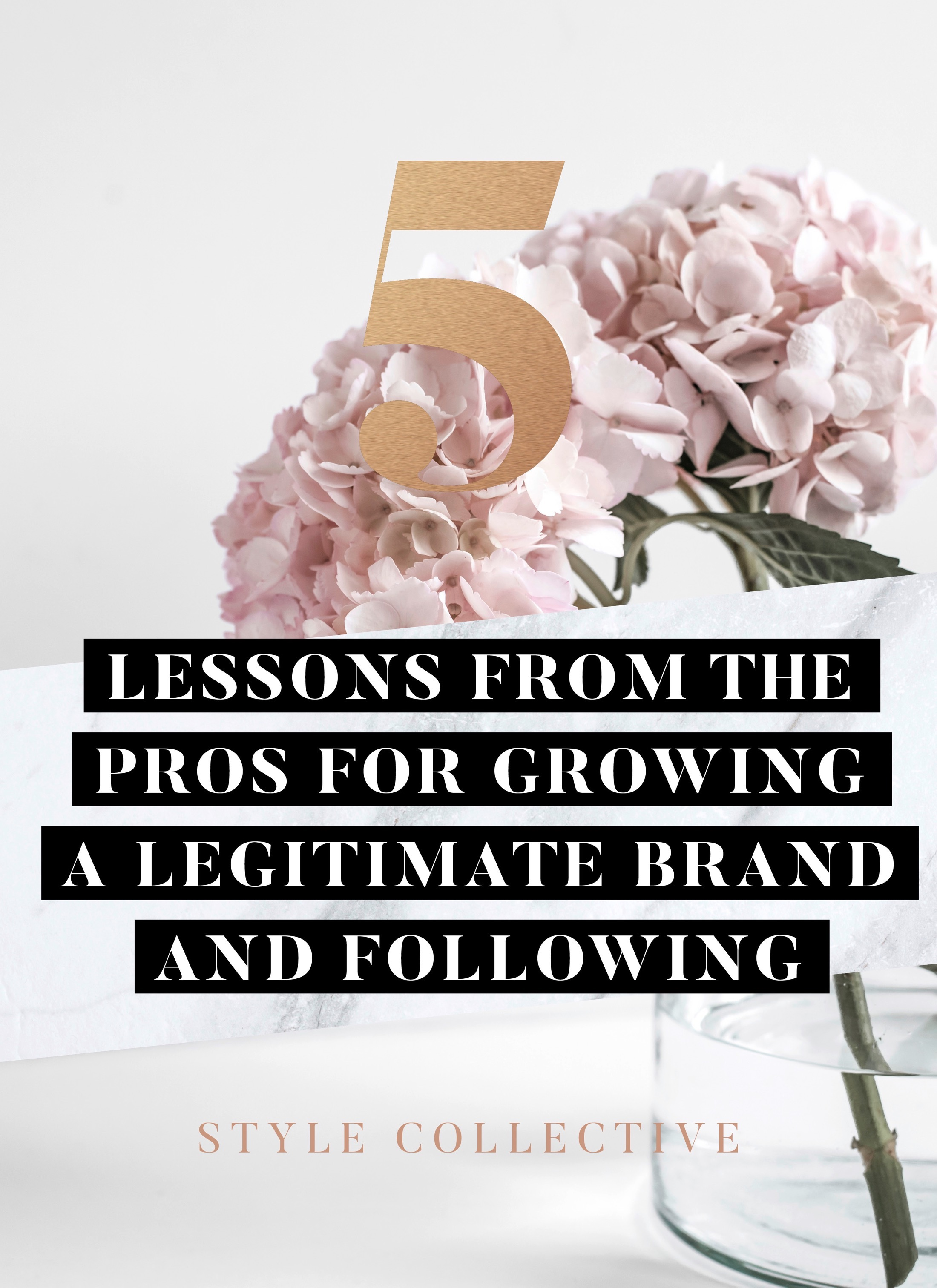 lesson for growing a legit brand and following